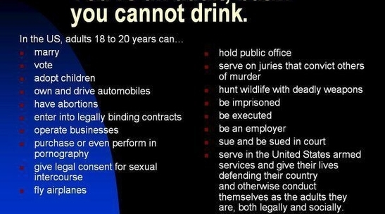 pros and cons to drinking age